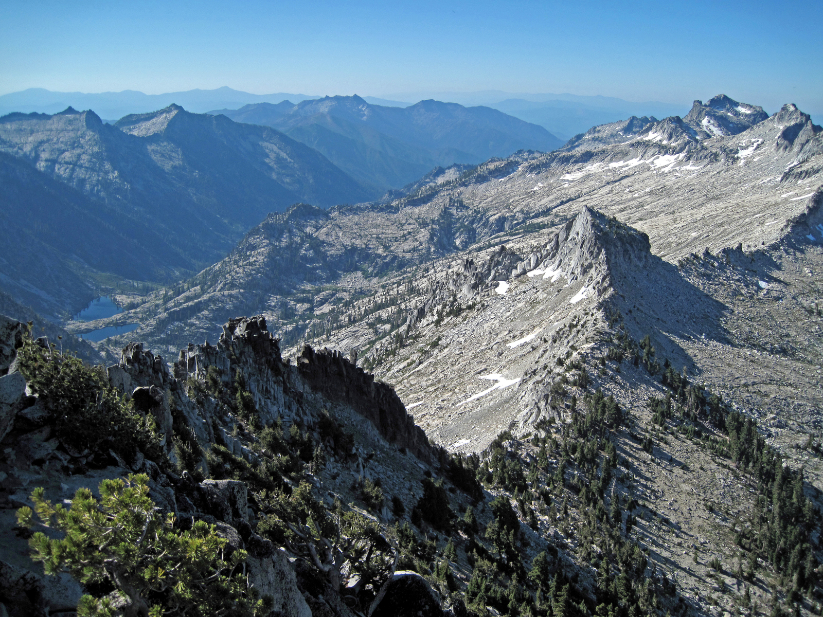 as seen from Mt. Thompson, Trinity Alps, Northern California