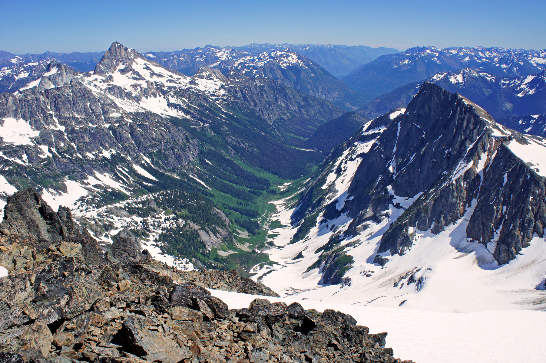 view from Mount Buckner, North Cascades National Park, Washington