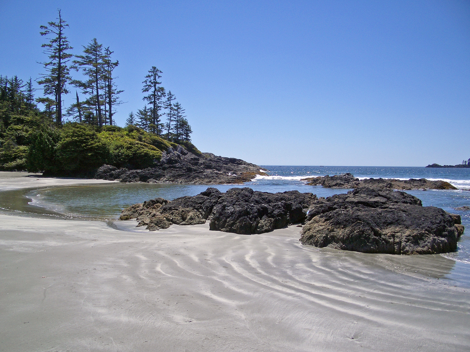 beach on the west coast of Vancouver Island