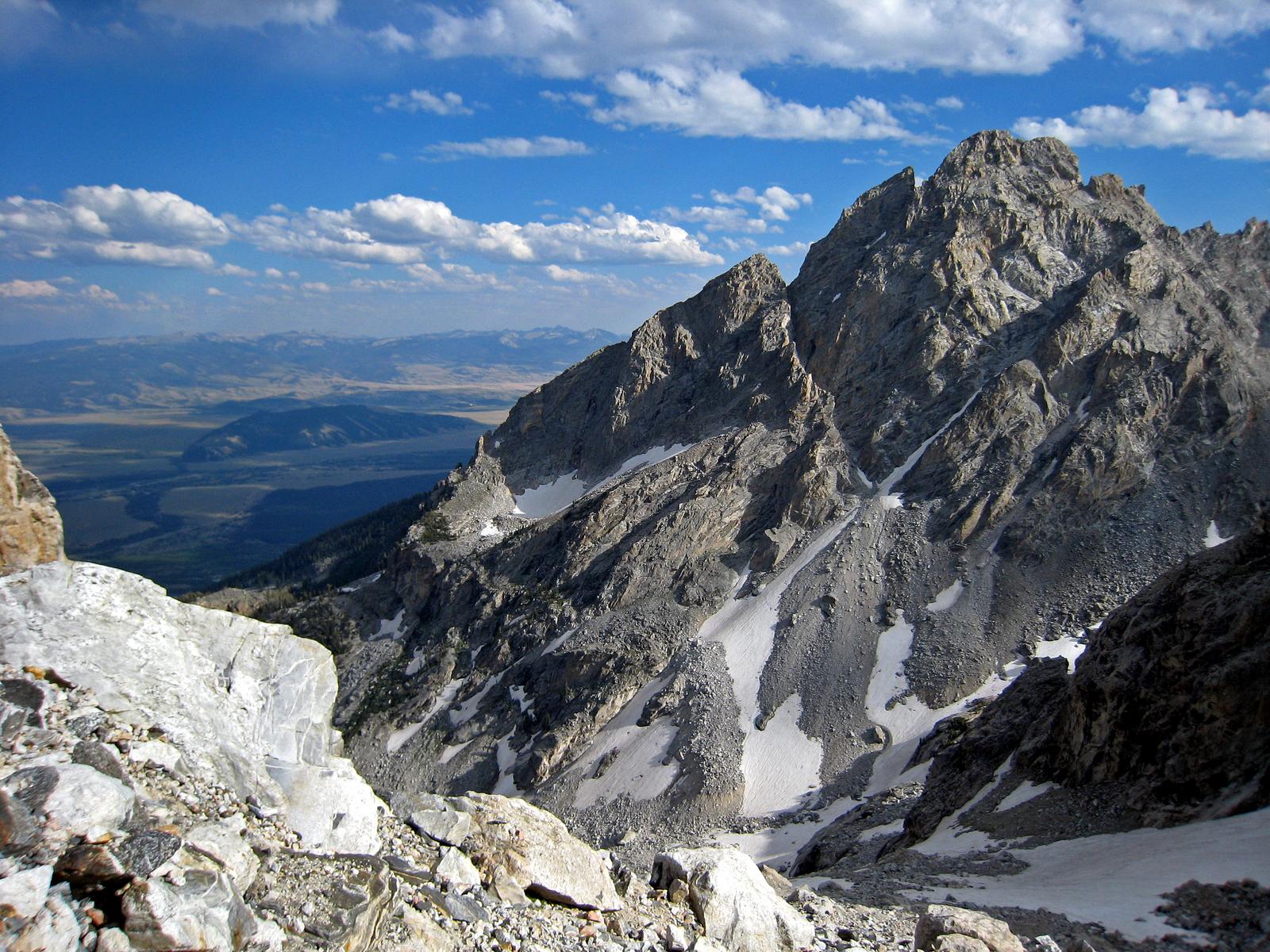 view south to Nez Perce from Grand Teton base camp, Grand Teton National Park, Wyoming