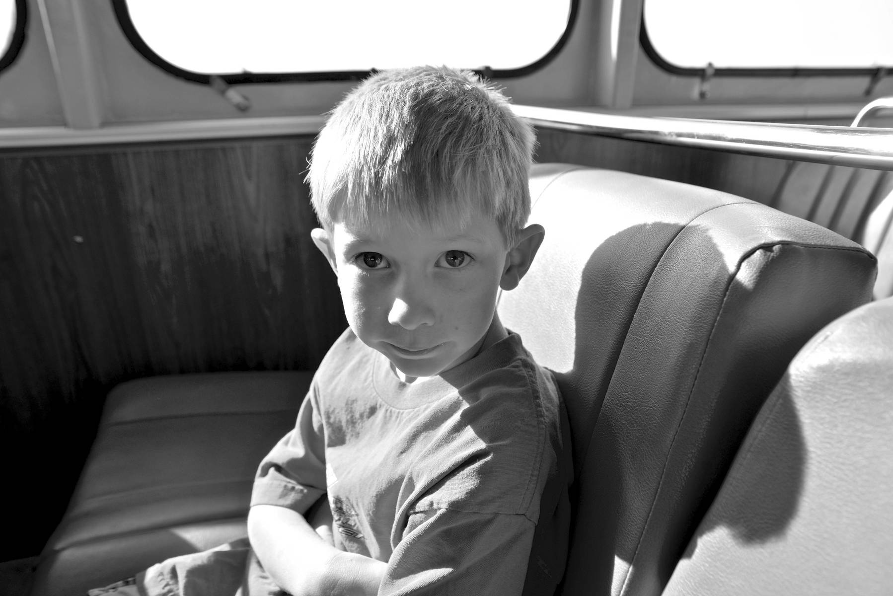 my nephew on a ferry to Southport, Wilmington NC