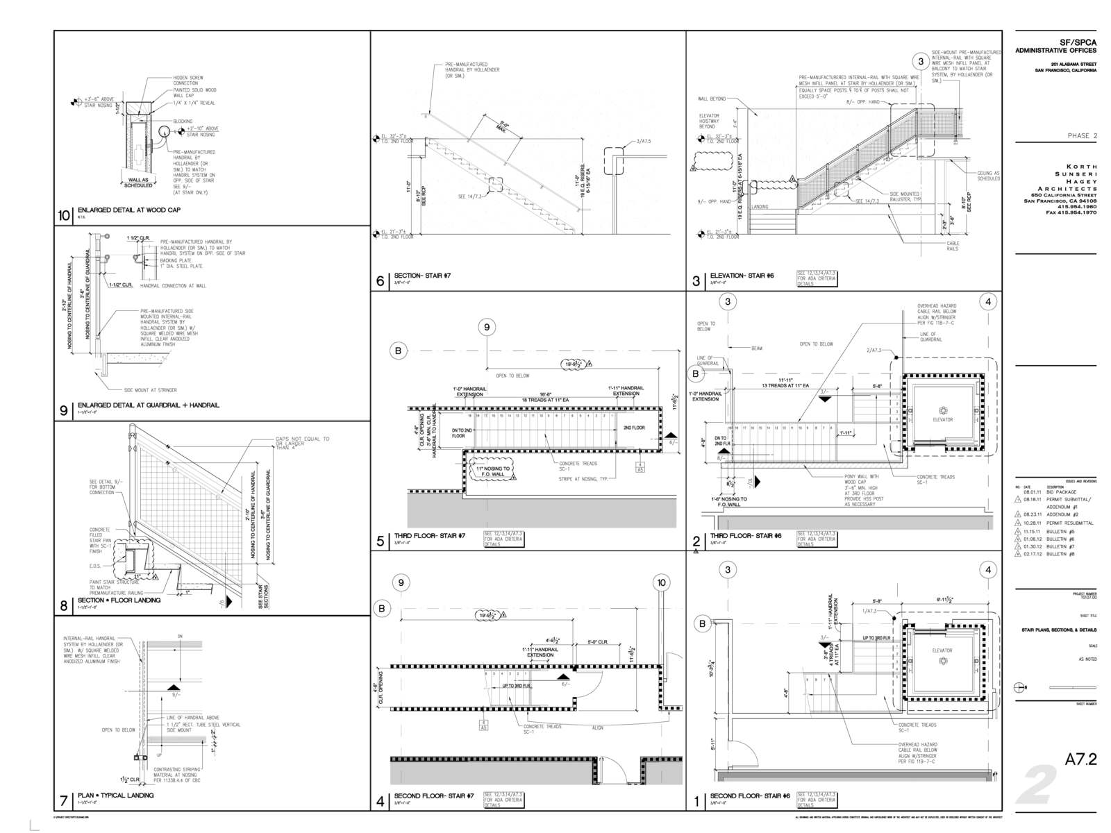 Construction Documents Stair and Elevator Details