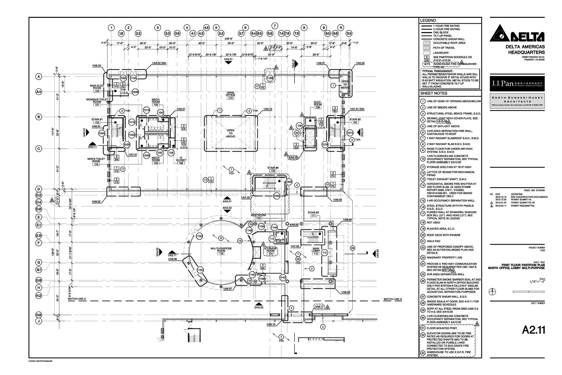Construction Documents Enlarged Floor Plan Office
