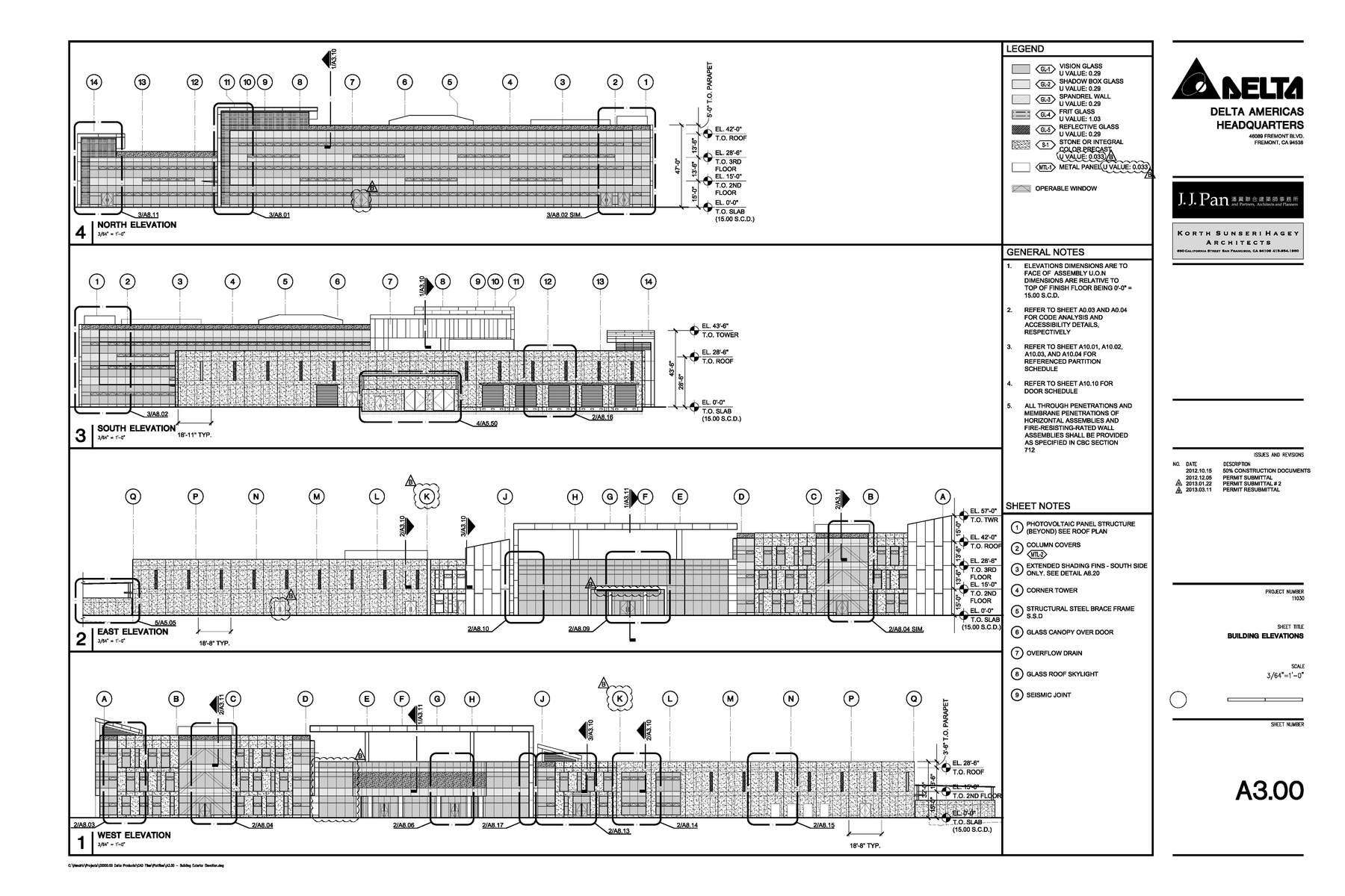 Construction Documents Building Elevations