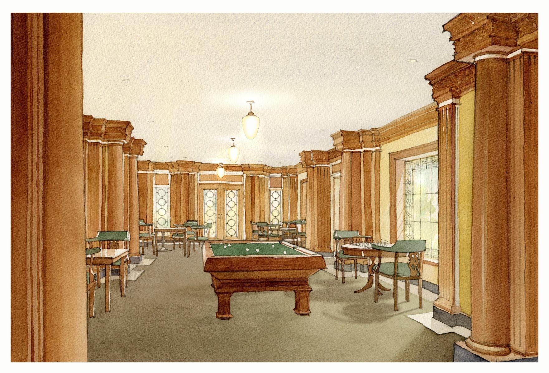 Billiard Room Rendering