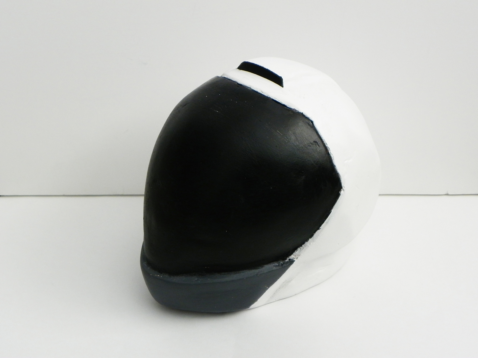 This motorcycle helmet was designed with maximum visibility in mind. The single air intake at the top redirects air flow around the helmet and to the bottom.