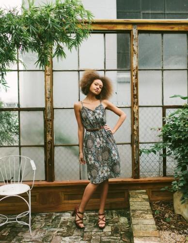 Designer: Kristina Angelozzi <br />Hair &amp; Makeup: Brittany Stevens <br />Photographer: Carolynn Seibert <br />Model: Christine Rigaudon <br />Location: Race and Religon